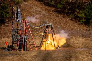 engine firing at the DOuglas County test site