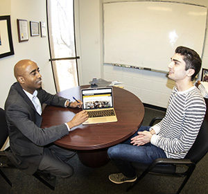 Prof. Ruffin advising a student