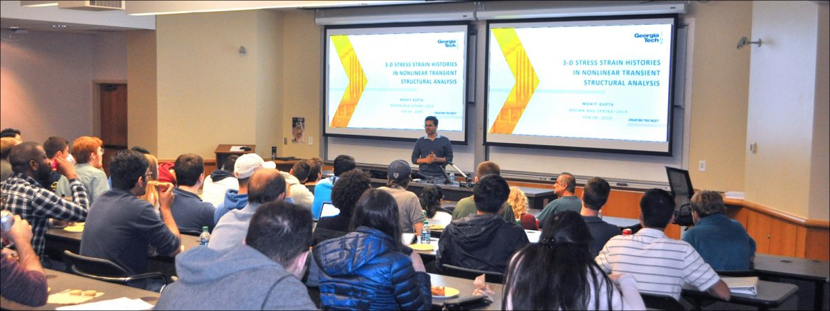 AE graduate student, Mohit Gupta shares his research during his Brown Bag presentation