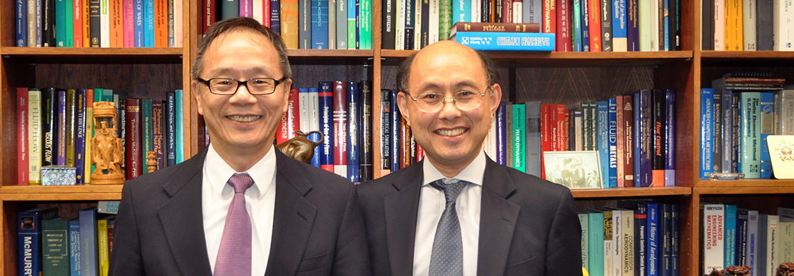 Dr. Vigor Yang with Gebhardt Lecturer Zhigang Suo