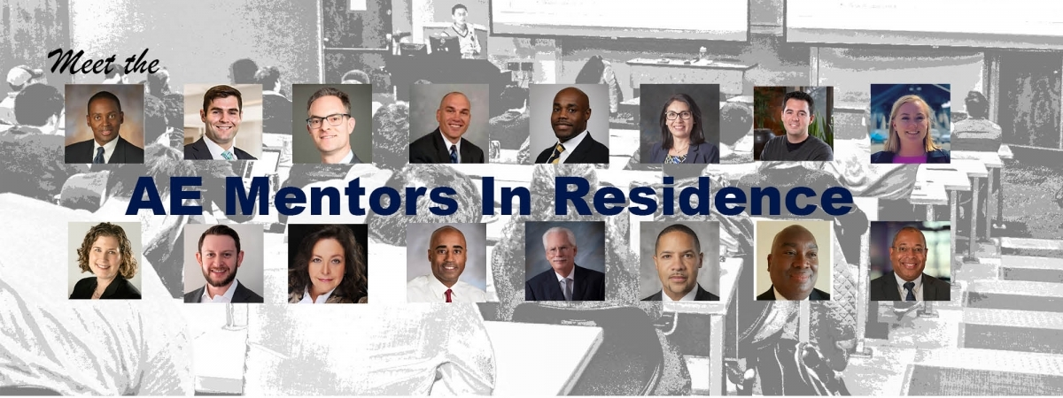 headshots of the first cohort of the Mentors IN  Residence Initiative