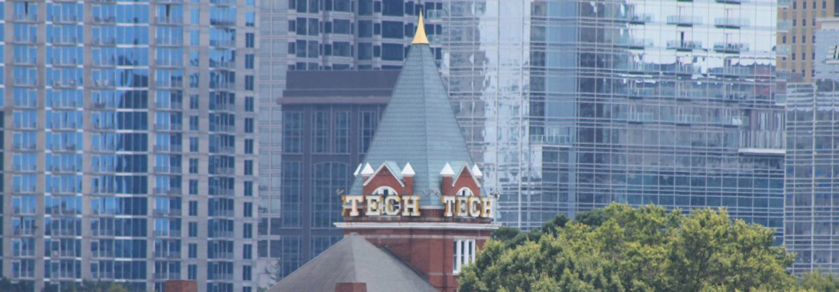 Photograph of the top of Tech Tower.