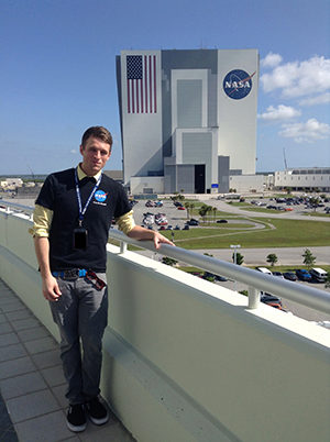 Kenneth Smith outside the Kennedy Space Center
