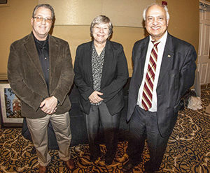 From left, Don Smith, Marilyn Smith (no relation) and Indirjit Chopra