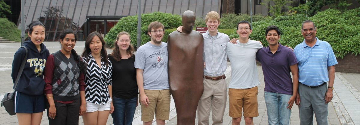 Prof. Sankar with a group of students at Limerick University during a summer study program