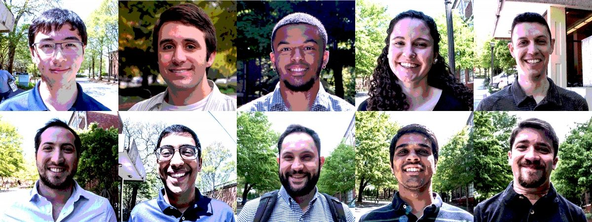 Headshots of 10 AE students who were interviewed for the What's Next series