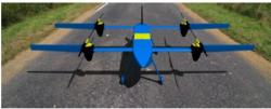 Photo of the High Aspect Ratio Electric Tandem Concept (HARETC) on the runway.