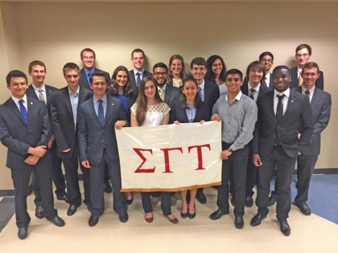 <p><em><strong>Twenty GT-AE undergraduates were inducted into the Georgia Tech chapter of Sigma Gamma Tau. Congratulations to these young scholars!</strong></em></p>