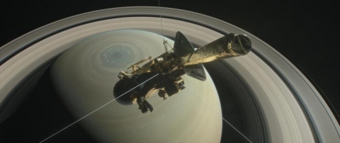 <p>The Cassini spacecraft, which has been orbiting Saturn since 2004, will plunge into Saturn on September 15. <em>(Image credit: NASA/JPL-Caltech)</em></p>