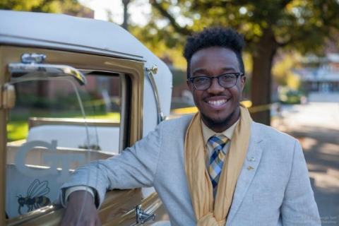 <p><strong><em>GT-AE undergraduate Henderson Johnson, II, was one of 25 students, Institute-wide, who who competed for the title Mr. Georgia Tech.</em></strong></p>